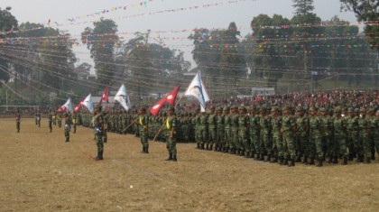 Nepali troops in ranks