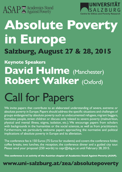 Absolute Poverty Conference Poster